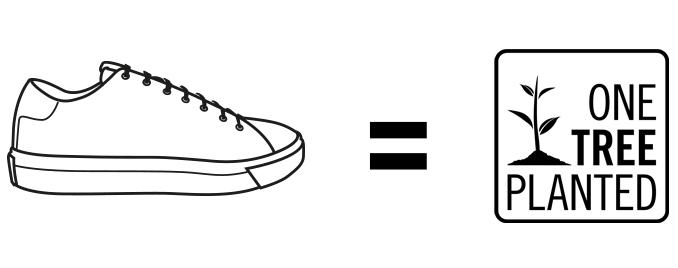 One pair of sneakers. One tree.